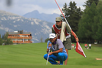 Johan Edfors (SWE) on the 10th on the 1st day of the Omega European Masters, Crans-Sur-Sierre, Crans Montana, Switzerland..Picture: Golffile/Fran Caffrey..