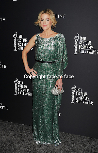 BEVERLY HILLS, CA- FEBRUARY 22: Actress Kathleen Robertson arrives at the 16th Costume Designers Guild Awards at The Beverly Hilton Hotel on February 22, 2014 in Beverly Hills, California.<br /> Credit: Mayer/face to face<br /> - No Rights for USA, Canada and France -
