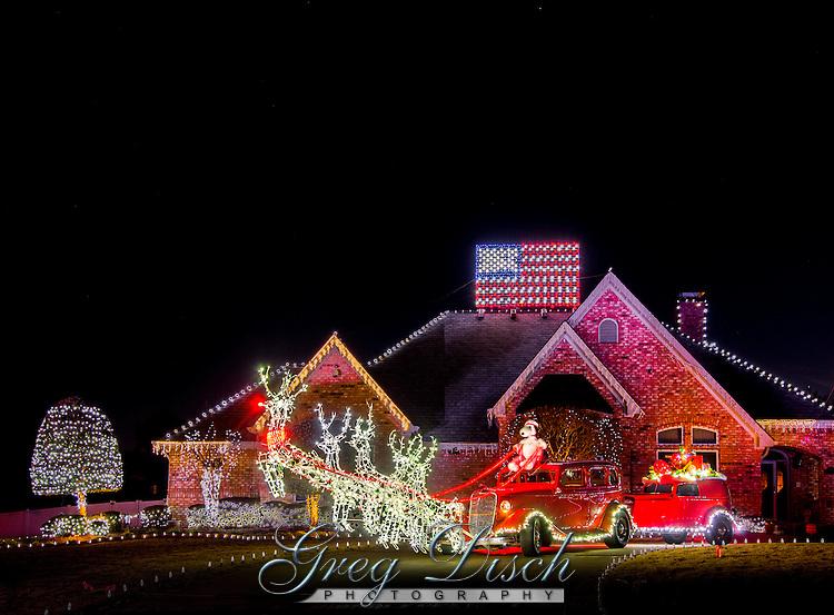 Hot Rod Santa sleigh taken at a private home in Van Buren Arkansas.