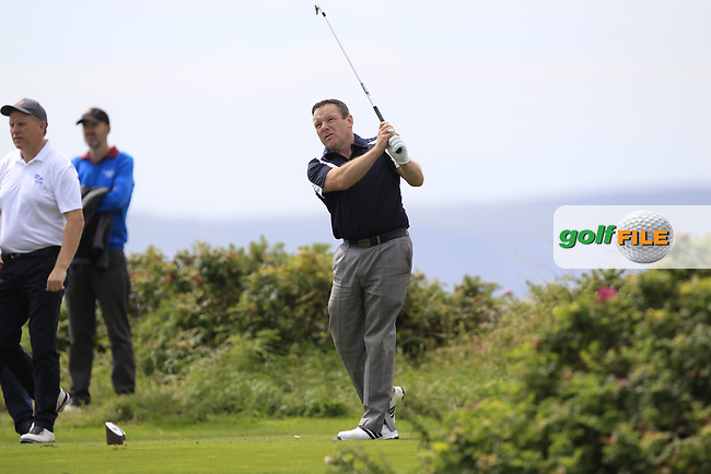Tommy Moylette (Castlebar) during the final of the AIG Jimmy Bruen Shield Connacht Final, in Galway Bay Golf Club, Galway, Ireland. 12/08/2017<br /> Picture: Fran Caffrey / Golffile
