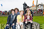 Gerard Tansley, Patrick O'Donnell, Aoife King, Julie O'Grady and Zack Brosnan enjoying the Ballyheigue Festival on Sunday