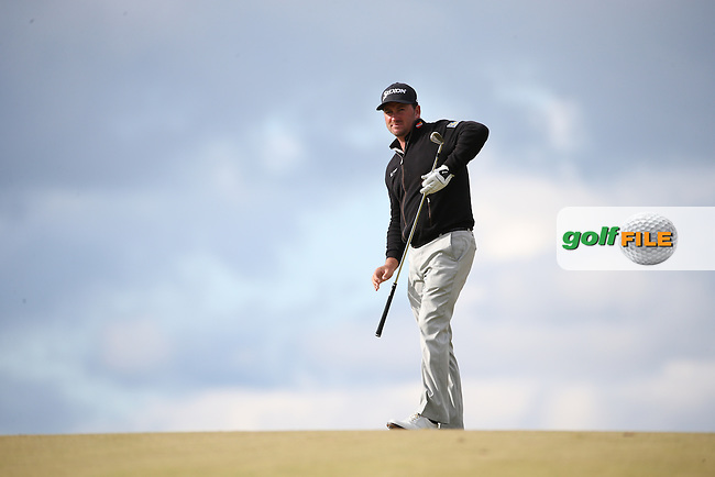 Graeme McDowell (NIR) plays second shot to the 18th  during Round Two of the 2016 Aberdeen Asset Management Scottish Open, played at Castle Stuart Golf Club, Inverness, Scotland. 08/07/2016. Picture: David Lloyd | Golffile.<br /> <br /> All photos usage must carry mandatory copyright credit (&copy; Golffile | David Lloyd)