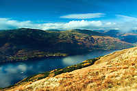 Loch Lomond and the Luss Hills from Ptarmigan Ridge, Ben Lomond, Loch Lomond and the Trossachs National Park, Stirlingshire