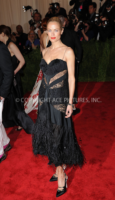 WWW.ACEPIXS.COM....May 6 2013, New York City....Carolyn Murphy attends the Costume Institute Gala for the 'PUNK: Chaos to Couture' exhibition at the Metropolitan Museum of Art on May 6, 2013 in New York City.....By Line: Kristin Callahan/ACE Pictures......ACE Pictures, Inc...tel: 646 769 0430..Email: info@acepixs.com..www.acepixs.com