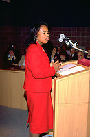 St Paul Mayor Belton age 40 speaking at a Salvation Army dedication.  Minneapolis  Minnesota USA