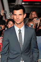 LOS ANGELES, CA - NOVEMBER 12: Taylor Lautner at the premiere of 'The Twilight Saga: Breaking Dawn - Part 2' at Nokia Theater L.A. Live on November 12, 2012 in Los Angeles, California.  Credit: MediaPunch Inc. /NortePhoto