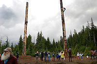 "The big event is to climb a 65 foot pole at the annual logging show held in Thorne Bay on Prince of Wales Island in the Tongass National Forest.  It is the ""real thing"" --not a tourist show--where loggers, past loggers and wanna be loggers compete."