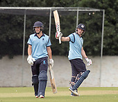Cricket Scotland - T20 Blitz - Richie Berrington celebrates his ton, a century off 58 balls - picture by Donald MacLeod - 03.09.08.2017 - 07702 319 738 - clanmacleod@btinternet.com - www.donald-macleod.com