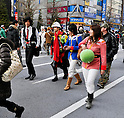 "January 23, 2011, Tokyo, Japan - Cosplayers, shoppers and tourists flood the 570-meter stretch of Akihabarafs main street as reopened ""Pedestrian Paradise"" reopens in Tokyofs electronics district on Sunday, January 23, 2011. A record crowd of about 100,000 shoppers and tourists returned to Akihabara as the pedestrian-only shopping zone reopened for the first time in two years and seven months after the 2008 stabbing rampage that left seven dead and 10 others injured. (Photo by AFLO) [3620] -mis-"