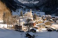 Switzerland, Canton Uri, Unterschaechen at Klausenpass Road