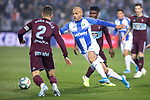 CD Leganes's  Martin Braithwaite (R) and RC Celta de Vigo's Hugo Mallo during La Liga match 2019/2020 round 16<br /> December 8, 2019. <br /> (ALTERPHOTOS/David Jar)