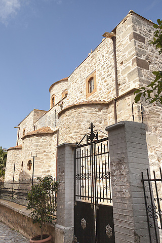 New Taxiarchis Church, in the village of Mesta, Chios, Greece <br /> CAP/MEL<br /> &copy;MEL/Capital Pictures /MediaPunch ***NORTH AND SOUTH AMERICA ONLY***