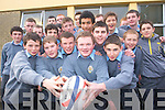 IT'S THE MUNSTER WAY. Members of the Tralee CBS junior team in high spirits despite the postponement of the Mungret Shield final on Wednesday. No Kerry school has ever gone this far in the Munster Junior Schools Cup before.   Copyright Kerry's Eye 2008