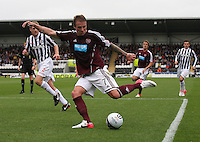 Ryan Stevenson in the St Mirren v Heart of Midlothian Clydesdale Bank Scottish Premier League match played at St Mirren Park, Paisley on 15.9.12.