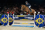 Julien Epaillard of France riding Pigmalion du Rozel at the the Massimo Dutti Trophy during the Longines Hong Kong Masters 2015 at the AsiaWorld Expo on 15 February 2015 in Hong Kong, China. Photo by Juan Flor / Power Sport Images