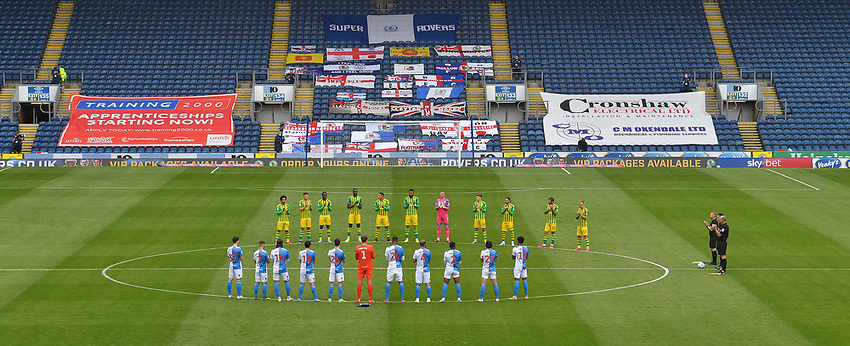 The teams applaud for Jackie Charlton<br /> <br /> Photographer Dave Howarth/CameraSport<br /> <br /> The EFL Sky Bet Championship - Blackburn Rovers v West Bromwich Albion - Saturday 11th July 2020 - Ewood Park - Blackburn <br /> <br /> World Copyright © 2020 CameraSport. All rights reserved. 43 Linden Ave. Countesthorpe. Leicester. England. LE8 5PG - Tel: +44 (0) 116 277 4147 - admin@camerasport.com - www.camerasport.com