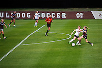 MSU Soccer vs. Samford - Super Bulldog Weekend exhibition game.<br />  (photo by Megan Bean / &copy; Mississippi State University)