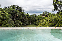 Derek Ferguson's salt water pool at his home, Casa Torcida,  in Peninsula de Osa, Puntarenas, Costa Rica. CREDIT: Lisa Corson for The Wall Street Journal     SLUG: OFFGRID-Costa Rica Images are available for editorial licensing, either directly or through Gallery Stock. Some images are available for commercial licensing. Please contact lisa@lisacorsonphotography.com for more information.