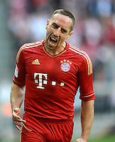 FUSSBALL   1. BUNDESLIGA  SAISON 2012/2013   7. Spieltag FC Bayern Muenchen - TSG Hoffenheim    06.10.2012 Jubel nach dem Tor zum 1:0 durch Franck Ribery (FC Bayern Muenchen)