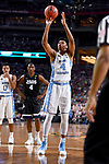 GLENDALE, AZ - APRIL 03: Isaiah Hicks #4 of the North Carolina Tar Heels shoots a freethrow during the 2017 NCAA Men's Final Four National Championship game against the Gonzaga Bulldogs at University of Phoenix Stadium on April 3, 2017 in Glendale, Arizona.  (Photo by Brett Wilhelm/NCAA Photos via Getty Images)