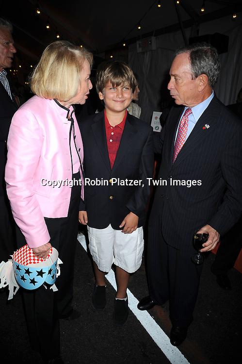 Liz Smith, Spencer Hoge and Mayor Michael Bloomberg