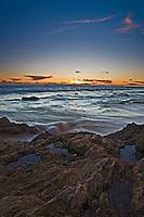 Rocky Coastline in Corona Del Mar of Newport Beach California
