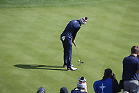 Jordan Spieth (Team USA) on the 16th during Saturday's Fourballs, at the Ryder Cup, Le Golf National, Île-de-France, France. 29/09/2018.<br /> Picture David Lloyd / Golffile.ie<br /> <br /> All photo usage must carry mandatory copyright credit (© Golffile | David Lloyd)