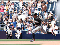Ichiro Suzuki (Marlins), JUNE 15, 2016 - MLB : Ichiro Suzuki of Miami Marlins rounds the bases after hitting in the ninth inning during the Major League Baseball game between the San Diego Padres and the Miami Marlins  at PetCo Park in San Diego, California, United States. He raised his career total in the Japanese and North American major leagues to 4,257, passing Pete Rose's record Major League Baseball total. (Photo by AFLO)