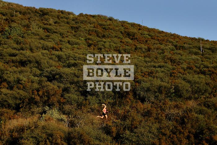 Katie DeSplinter enjoys running on the Ray Miller Trail in Malibu, California.  DeSplinter has run three marathons to date and is currently training for her first triathlon.