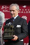 October 06, 2019, Paris (France) - Andre Fabre after winning the Prix de l'Arc de Triomphe (Gr I) on October 6 in ParisLongchamp. [Copyright (c) Sandra Scherning/Eclipse Sportswire)]