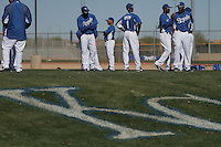 Logo of the Royals of Kasas City. baseball, grass, Major Leagues, Spring Training, minor leagues, Peoria Sport Complex, Arizona, Seattle Mariners, Spring Training, AAA, AA, MLB<br />