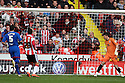 Richard Cresswell of Sheffield United's header evades Chris Day of Stevenage for their first goal. - Sheffield United v Stevenage - npower League 1 - Bramall Lane, Sheffield  - 28th April, 2012. © Kevin Coleman 2012