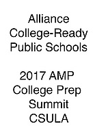 Alliance 2017 Wonderful AMP College Prep Summit CSULA