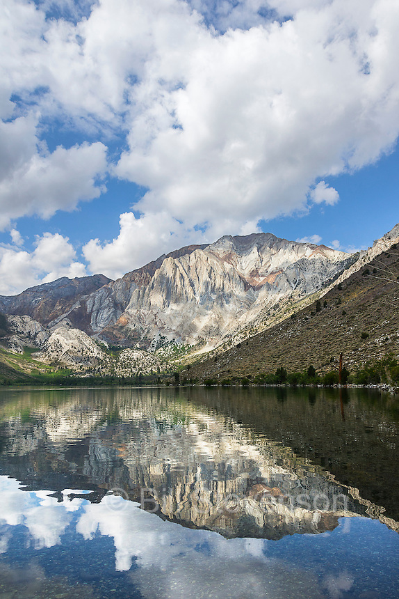A photo of Convict Lake and Laurel Mountainin the Sierra Mountains. Convict Lake was the site of 19th century gun battle between prisoners who had excaped from the Carson City jail and a posse.