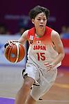Shiori Yasuma (JPN), <br /> AUGUST 17, 2018 - Basketball : Women's Qualification round match between Japan 73-105 China at Gelora Bung Karno Basket Hall A during the 2018 Jakarta Palembang Asian Games in Jakarta, Indonesia. (Photo by MATSUO.K/AFLO SPORT)