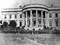 Cassius M. Clay Battalion Defending White House, April 1861. Washington, D.C. (National Archives)<br /> Exact Date Shot Unknown