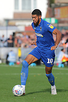 Jake Jervis of AFC Wimbledon in action during AFC Wimbledon vs Portsmouth, Sky Bet EFL League 1 Football at the Cherry Red Records Stadium on 13th October 2018