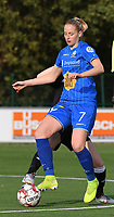 20191116 – WONDELGEM, BELGIUM : Gent's Nina Stapelfeldt  pictured during a women soccer game between AA Gent Ladies and Eendracht Aalst in the ¼  quarter finals of the Belgium Women's Cup Competition  season 2019-2020 , saturday 16 th November 2019 at the Neptunus site stadium in Wondelgem,  Gent  , Belgium  .  PHOTO SPORTPIX.BE | DIRK VUYLSTEKE