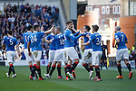 Rangers celebrate as they put Hearts to the sword