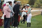 April 12, 2014: Jockey Calvin Borel before the running of the Arkansas Derby at Oaklawn Park in Hot Springs, AR. Justin Manning/ESW/CSM