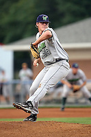 September 5 2008:  Pitcher Tom Koehler of the Jamestown Jammers, Class-A affiliate of the Florida Marlins, during a game at Dwyer Stadium in Batavia, NY.  Photo by:  Mike Janes/Four Seam Images