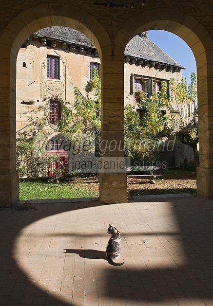 Europe/France/Aquitaine/24/Dordogne/Périgord Noir/Salignac-Eyvigues: la Halle au Blé construite en 1887 et  maison des XIIIème-XIVème siècles, plus connue sous le nom de Couvent des Croisiers,