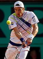 Jurgen Melzer (AUS) (22) against Rafael Nadal (ESP) (2) in the semi-finals of the men's singles. Rafael Nadal beat Jurgen Melzer 6-2 6-3 7-6..Tennis - French Open - Day 13 - Fri 04 Jun 2010 - Roland Garros - Paris - France..© FREY - AMN Images, 1st Floor, Barry House, 20-22 Worple Road, London. SW19 4DH - Tel: +44 (0) 208 947 0117 - contact@advantagemedianet.com - www.photoshelter.com/c/amnimages
