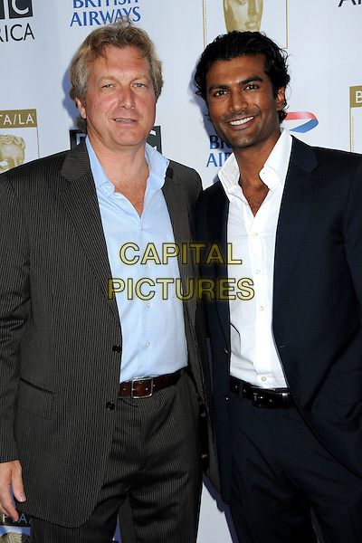 PETER MORRIS, BAFTA Chairman & SENDHIL RAMAMURTHY.6th Annual BAFTA TV Tea Party at the Intercontinental Hotel, Century City, California, USA..September 20th, 2008.half length black blue suit jacket grey gray .CAP/ADM/BP.©Byron Purvis/AdMedia/Capital Pictures.