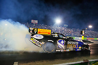 Oct 16, 2015; Ennis, TX, USA; NHRA funny car driver Jack Beckman during qualifying for the Fall Nationals at the Texas Motorplex. Mandatory Credit: Mark J. Rebilas-USA TODAY Sports