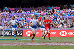 Paulin Riva of France runs with the ball during the HSBC Hong Kong Sevens 2018 Bowl Final match between Canada and France on 08 April 2018, in Hong Kong, Hong Kong. Photo by Marcio Rodrigo Machado / Power Sport Images