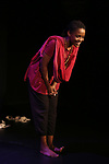 """Malaika Uwamahoro on stage during """"Miracle in Rwanda"""" honoring International Day of Reflection on the 1994 Genocide against the Tutsi in Rwanda at the Lion Theatre on Theater Row on April 7, 2019 in New York City."""