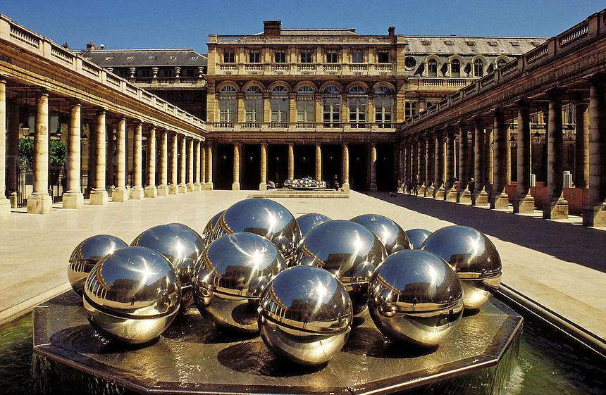 France. Paris.  The Palais Royal, built by Lemercier for Richelieu.between 1634 and 1639..