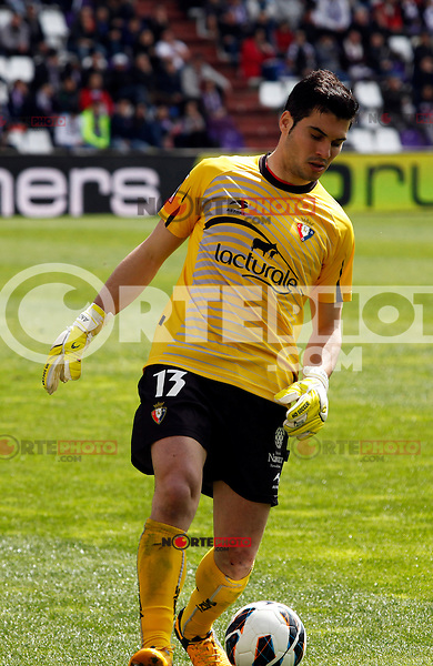 Osasuna´s goalkeeper Andres Fernandez during match of La Liga 2012/13. 31/03/2013. Victor Blanco/Alterphotos /NortePhoto