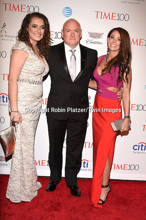 Scott Kelly and daughter and girlfriend attends the Time 100 Most Influential People in the World NYC Gala on April 26, 2016 at Frederick P Rose Hall in New York, New York, USA.<br /> <br /> photo by Robin Platzer/Twin Images<br />  <br /> phone number 212-935-0770